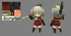Xiang by EelGod on DeviantArt Game Character Design, Character Design References, 3d Character, Game Design, 3d Pixel, Pixel Art, Polygon Art, Chibi Characters, Low Poly 3d