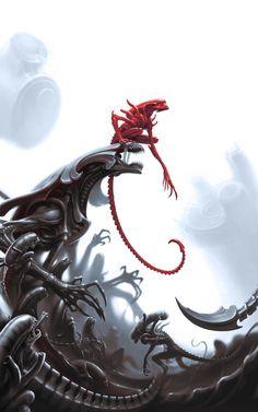 Arte Alien, Alien Art, Monster Concept Art, Monster Art, Xenomorph Types, Alien Isolation, Aliens Movie, Fantasy Beasts, Alien Vs Predator