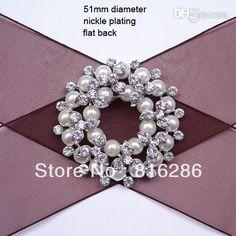 Wholesale Crystal - Buy J0379 51mm Metal Rhinestone Embellishment Bouquet  Shape 2b368013f036