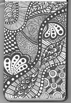 A zentangle by Pam McClung   zen7v