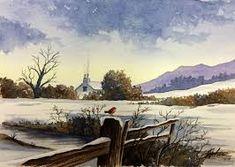Resultado de imagem para negative winter watercolour