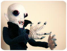 Vampire crochet Nosferatu - My take on the old Monster. :) #crochet #vampire #nosferatu