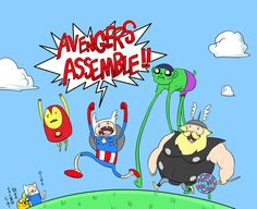 MAD Adventure Time Avengers!