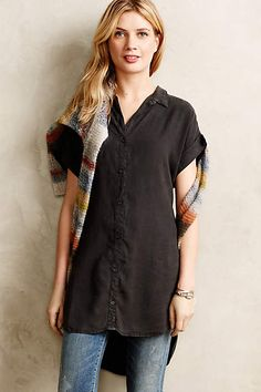 Anthropologie EU Tecoma Tunic in beigy green Uk Fashion, Autumn Fashion, Anthropologie Clothing, Teacher Dresses, Blouse Outfit, T Shirts For Women, Clothes For Women, Work Clothes, Style