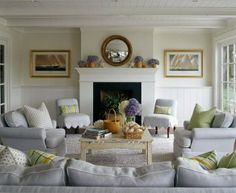 Slipper Chairs with scalloped edge C.B.I.D. HOME DECOR and DESIGN: A ROOM WITH A VIEW
