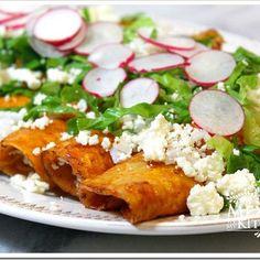 Mexico in my Kitchen: Red Enchiladas Recipe / Receta de Enchiladas Rojas Authentic Mexican Food Recipes Traditional Blog