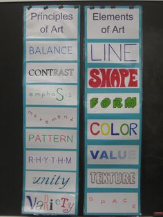 Miss Young's Art Room: Elements and Principles of Art