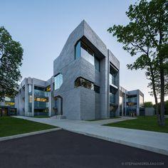 Quebec Science Complex on Behance Composition Design, Quebec City, Exterior Design, Architecture Design, Science, Mansions, House Styles, Architects, Centre