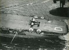 Sea fury on the deck of the aircraft carrier Illustrious