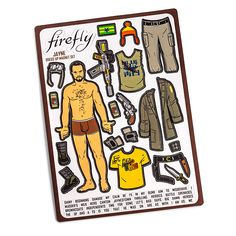 Firefly Jayne Dress-up Magnets - I can't even begin to tell you how much I NEED this!