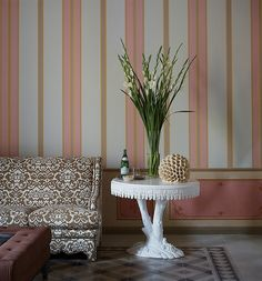 Striped wall at Palazzo Margherita. F.F. Coppola
