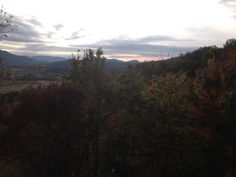 Smokey Mountains sunset at the cabin