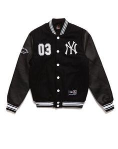 new style c3ede 9cf44 Majestic Athletic NY Yankees Letterman Jacket Flat