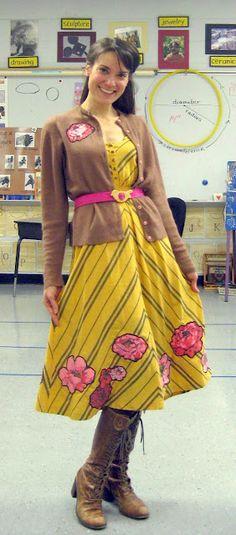 dress meets vintage curtain, a DIY