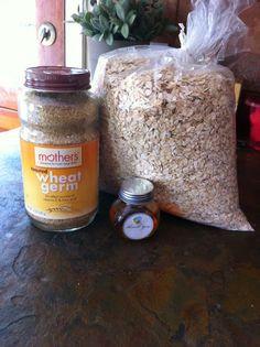 Oatmeal and wheat germ cracker recipe