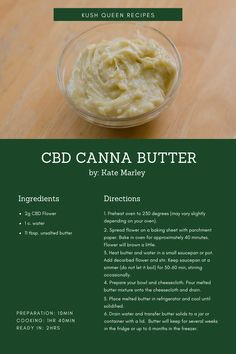 Now you're welcome to use your CBD cannabutter in any recipes that call for regular butter! Weed Recipes, Marijuana Recipes, Ganja, Cannabis Edibles, Butter Recipe, Dessert Recipes, Food And Drink, Cooking, Snacks