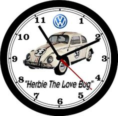 How To Make Wall Clock, Love Bugs, Beetle, Printing Process, Adhesive, Volkswagen, Great Gifts, Ship, Usa