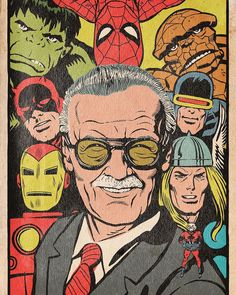 Drawing Marvel Comics An illustrated tribute to Stan Lee and his career. Marvel Avengers, Marvel Art, Marvel Heroes, Avengers Cartoon, Comic Art, Comic Kunst, Comic Books Art, Hulk Comic, Marvel Comic Books
