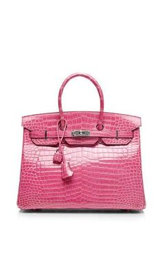 Hermes 35cm rose tyrien shiny porosus birkin by HERITAGE AUCTIONS SPECIAL COLLECTION for Preorder on Moda Operandi