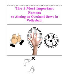 How to Aim an Overhand Serve - The Dig- Episode 005 Aiming a Serve can be difficult, but it's a very important skill to master. If you can get to the point where you can hit a target, the size of a notebook, from 45 feet away, you will be a force to. Volleyball Store, Volleyball Tryouts, Volleyball Skills, Volleyball Training, Volleyball Quotes, Coaching Volleyball, Beach Volleyball, How To Get Better, High Jump