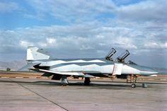"""unique experimental camouflage scheme appears on this F-4C of the 58th TFTW at Luke AFB, Arizona. This """"Deceptive Paint Scheme"""" was created by noted aviation artist Keith Ferris."""
