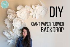 Fleurs en papier géantes motifs par AvantiMorochaDIYs sur Etsy