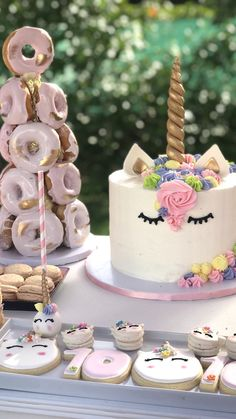 Unicorn Cake from a Unicorn Birthday Party on Kara's Party Ideas | KarasPartyIdeas.com (3)