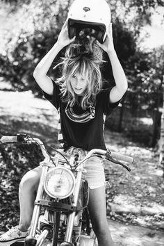 Mimi la bikeuse #denim #jeans