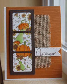 Empty Nest Crafter used Serendipity Stamps new Pumpkins & Sunflowers rubber stamp to make her card