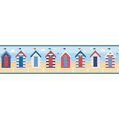 KRB Beach Wood Seashell Wallpaper Border Discontinued - Discontinued lighthouse border