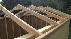 Amazing Shed Plans - Toiture - Now You Can Build ANY Shed In A Weekend Even If You've Zero Woodworking Experience! Start building amazing sheds the easier way with a collection of shed plans! Building A Shed Roof, Building Ideas, Building A Workshop, Building Design, Casas Containers, Small Sheds, Roof Trusses, Wood Shed, Shed Homes