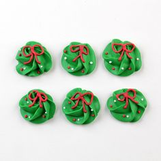 Christmas Wreath Royal Icing Decorations