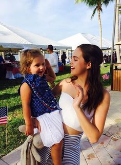 Bailee Madison and her niece Riley. :)