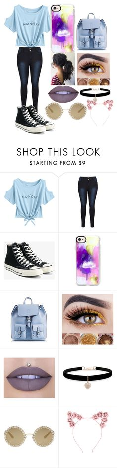 """""""Summer Trend: Short Sleeve T-shirt"""" by hotpink179 ❤ liked on Polyvore featuring Converse, Casetify, Coccinelle, Jeffree Star, Betsey Johnson, Dolce&Gabbana and Hot Topic"""