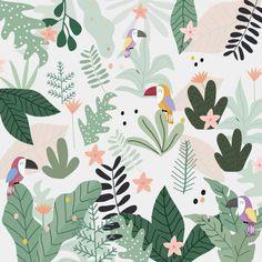 Winter Illustration, Cute Illustration, Surface Pattern Design, Pattern Art, Toucan, Wrapping Paper Design, School Murals, Murals For Kids, Apple Watch Wallpaper