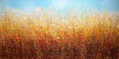 "Saatchi Art Artist Sandy Dooley; Painting, ""October Field, October Air  (sold)"" #art"