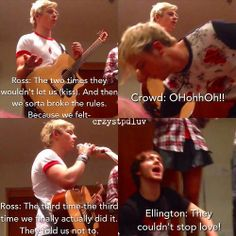 They couldn't stop love  Ratliff and Rocky are total Raura shippers, LOL