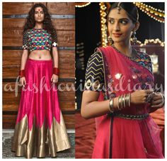 Sonam Kapoor's highly anticipated upcoming movie, 'Dolly Ki Doli' has been full of stylish moments for the actress. In one such case, she is seen donning a stunning lehenga choli with mirror work applique by designer Mayyur Girotra. Ethnic Fashion, Indian Fashion, Womens Fashion, Lehenga Choli, Anarkali, Sabyasachi Lehengas, Sarees, Bridal Lehenga, Indian Attire