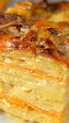 Two-Layered-Potatoes Recipe ~ Combines both Yukon and sweet potatoes