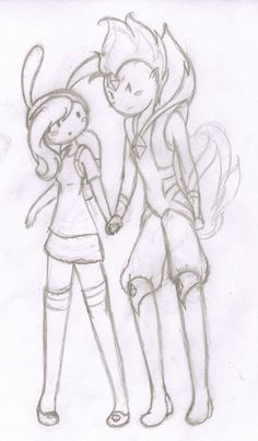 Fionna and Flame Prince by ~AlissaLuvsU on deviantART