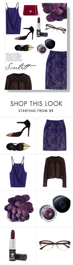 """purple explosion"" by evaki-jen ❤ liked on Polyvore featuring Etro, St. John, MARC CAIN, Shiseido, Manic Panic NYC, Ted Baker and purple"