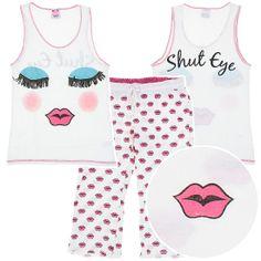 White Shut Eye Cotton Pajamas for Women Only $7.99, Save $7.00 - Pajama Sets
