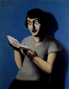 La Lectrice Soumise (The submissive reader), René Magritte was a Belgian surrealist artist. He became well known for a number of witty and thought-provoking images. Rene Magritte, Artist Magritte, Théo Van Rysselberghe, Magritte Paintings, People Reading, Conceptual Art, Andy Warhol, Submissive, Great Artists
