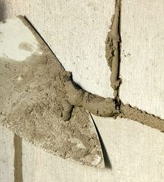 Remove excess mortar