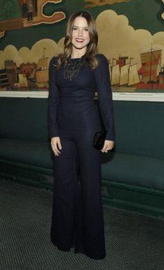 Sophia Bush wearing Beulah Tiger Swallowtail Jumpsuit.