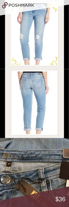 """NWT Kut from the Kloth Adele Boyfriend Sz 10 NWT Kut from the Kloth Adele boyfriend distressed jeans in a light wash.  Jeans are ankle-length with a 28"""" inseam. Kut from the Kloth Jeans Ankle & Cropped"""