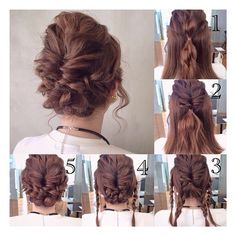 Cute hairdo that us easy too For a day when you just don't care but your hair looks terrible down # Braids bun military Fancy Hairstyles, Down Hairstyles, Wedding Hairstyles, Coiffure Hair, Hair Arrange, Pinterest Hair, Prom Hair, Bridesmaid Hair, Hair Dos
