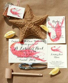 Lobster Boil printable PDF files. Cute idea for rehearsal dinner or shower