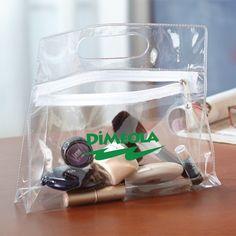 Zipper pouch keeps items secure. Security Bag, Medicine Packaging, Promo Gifts, Vanity Bag, Garment Bags, Travel Toiletries, Pvc Material, Printed Bags, Custom Bags