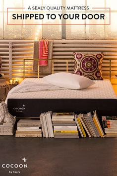 Experience a new way to buy a mattress. From unboxing to relaxing, Sealy makes it easy to get a premium memory foam mattress shipped to your door. With a 100-night trial, hassle-free returns and a 10-year warranty, there's nothing to lose. Get your Cocoon mattress by Sealy today.